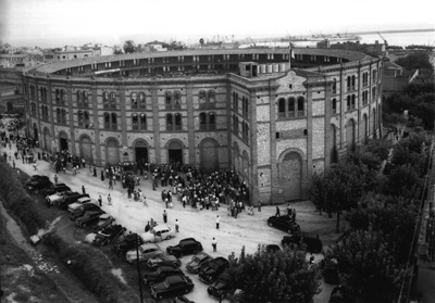Una imatge retrospectiva de la plaça