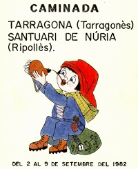 Caminada Tarragona - Santuari de Núria. Del 2 al 9 de setembre del 1982