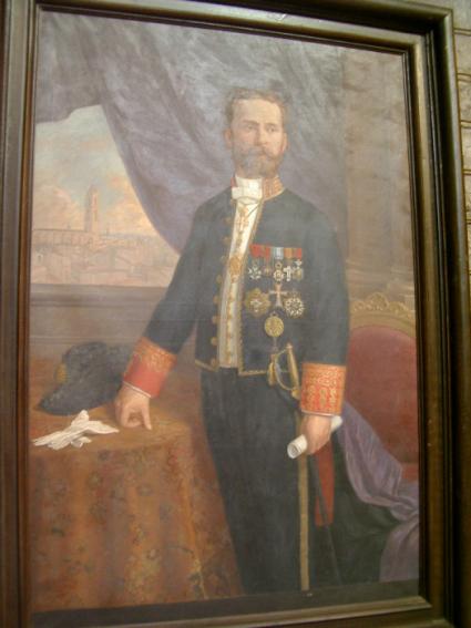 Eduard Toda i Güell, pintura retrat de l'època de diplomàtic
