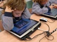 Els escolars han utilitzat tabletpc per fer exercicis