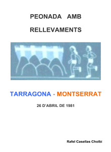 Peonada amb rellevaments: Tarragona - Montserrat (1981)