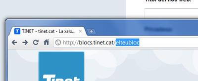 El teu bloc a TINET