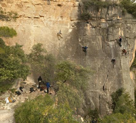 Siurana: climbers paradise. Gigafoto. Autor: Josep Giribet