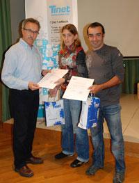 Els premiats amb el director d'OASI, Enric Brull