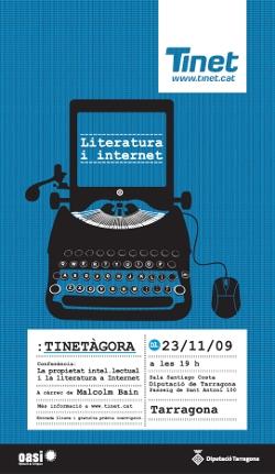 Cartell de la TINETàgora 2009