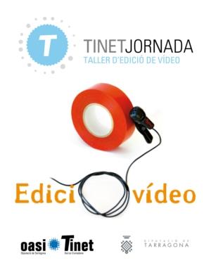 TINETjornada sobre edició de vídeo
