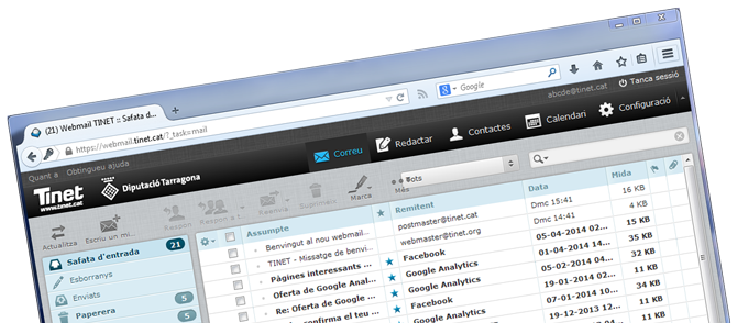 Nou Webmail de TINET