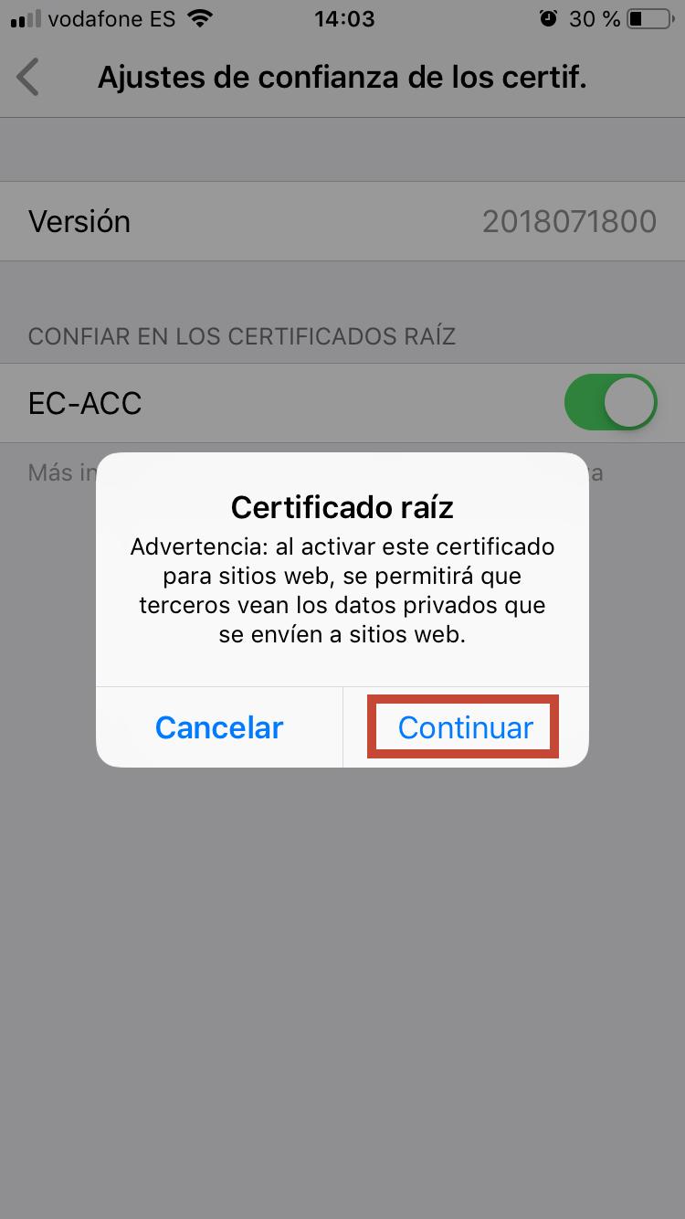 L'activació del certificat cal confirmar-la