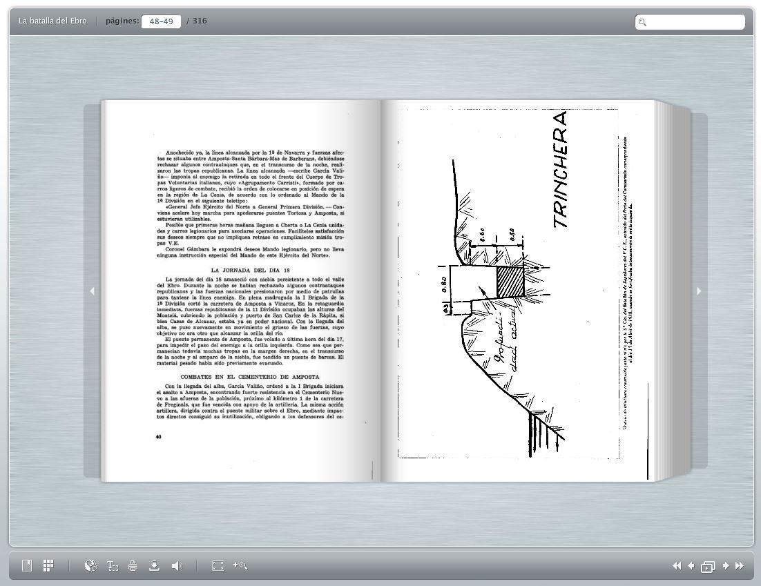 Consulta digital d'un dels volums de La Batalla del Ebro