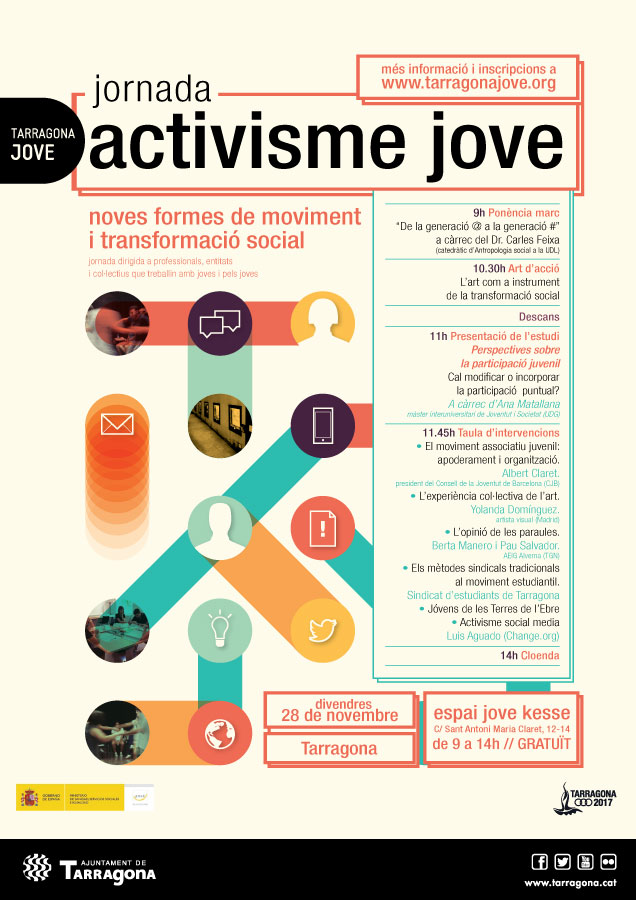 Cartell de la jornada Activisme Jove 2014