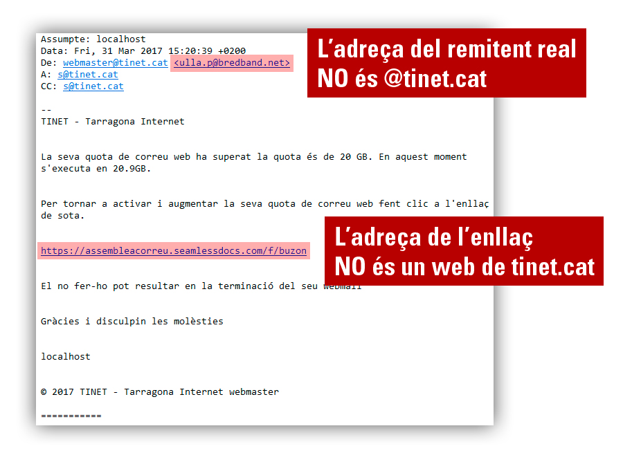Intent de phishing