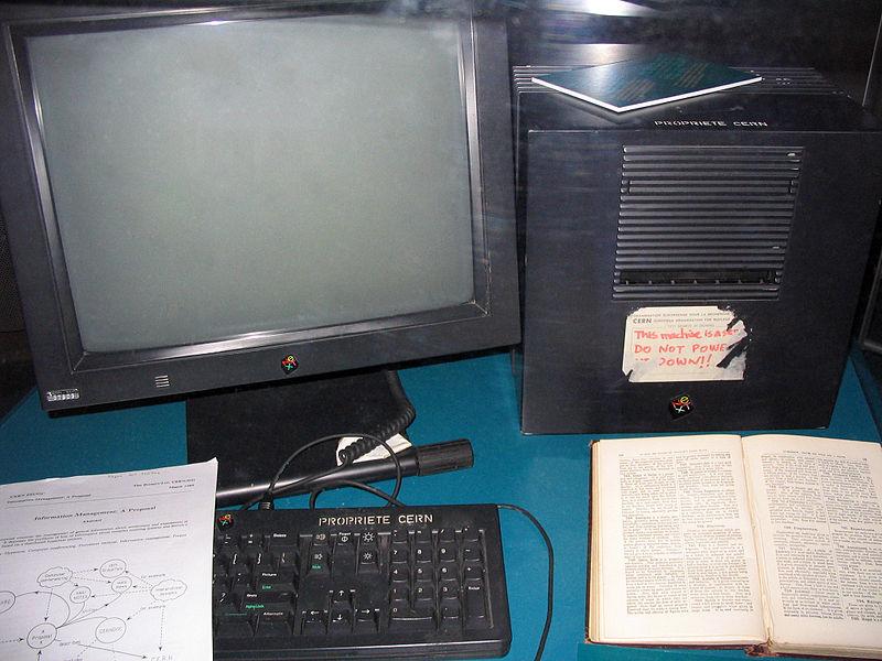 Ordinador del CERN que va ser utilitzat per Tim Berners-Lee com a primer servidor de la WWW