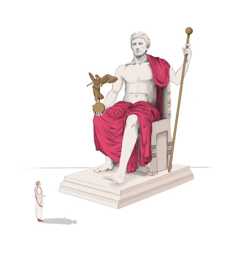 Il·lustració hipotètica de l'estàtua d'August, de Cristina Toro