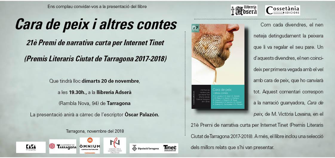 Invitació per a la presentació del llibre de 21è Premi TINET
