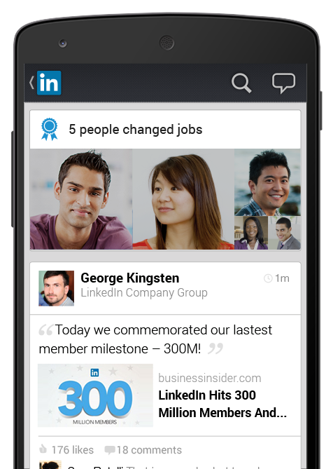 LinkedIn per Android