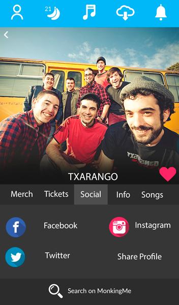 La música de Txarango es pot descarregar des de MonkingMe
