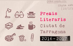 Cartell dels Premis Literaris Ciutat de Tarragona 2016-2017