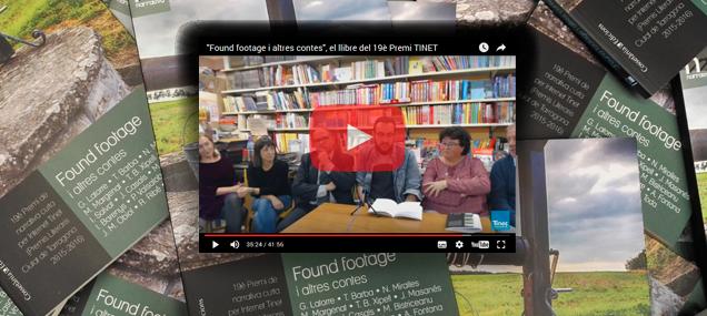 """Streaming de la presentació pública de """"Found footage i altres contes"""""""