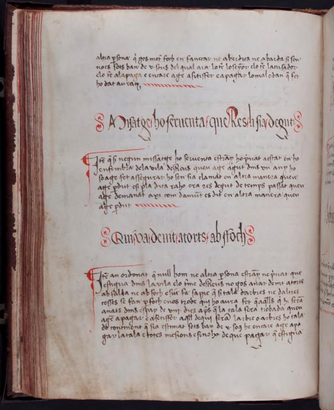 Manuscrit interior del Llibre de la cadena
