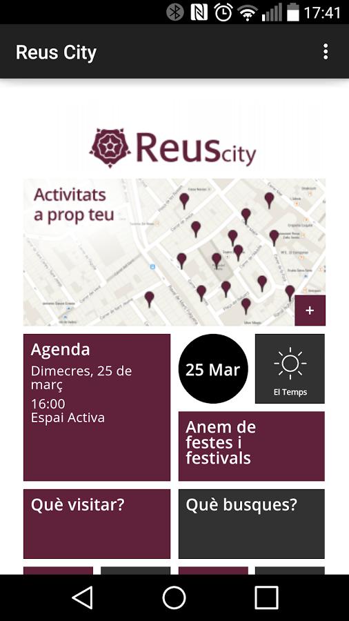 Pantalla principal de Reus City