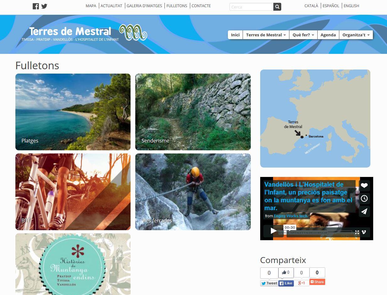 Nou web de Terres de Mestral